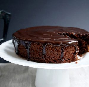 Avocado Chocolate Cake with Coffee-Chocolate Glaze