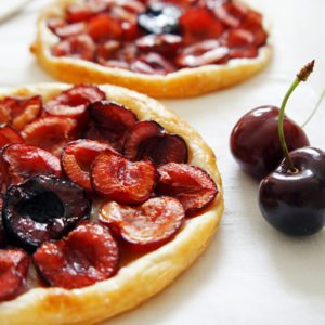 Cherry Tartlets with Marzipan