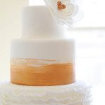 Gold & Ruffle Wedding Cake