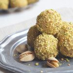 Vanilla Bean Cake Truffles with Toasted Pistachios