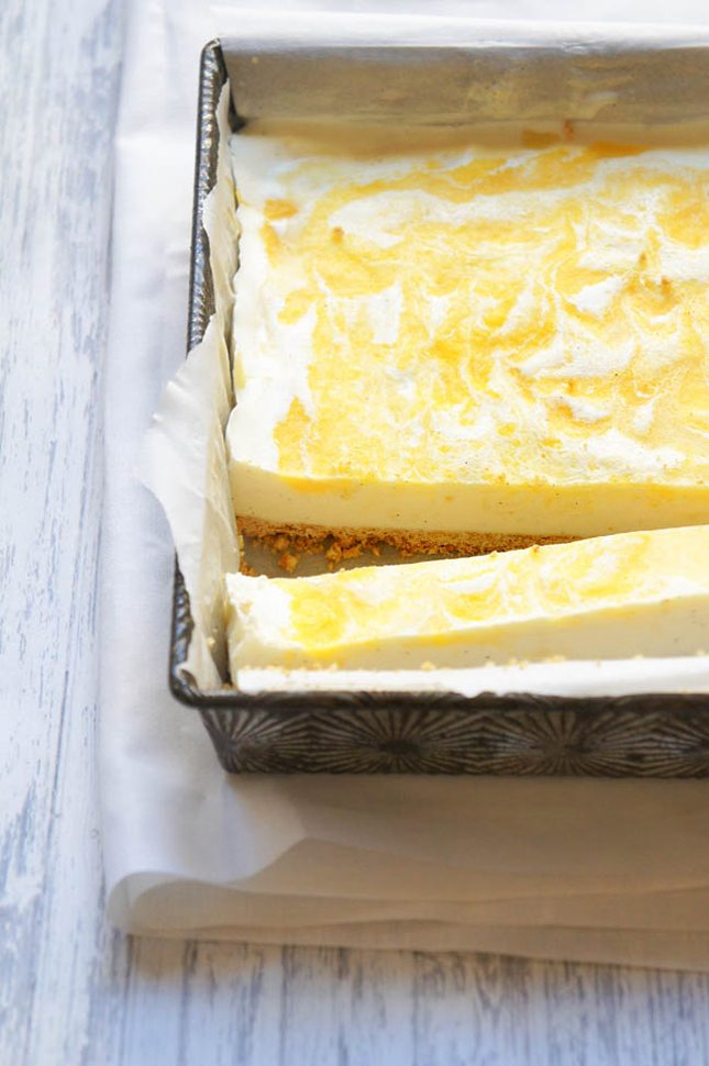 Sugary & Buttery - Vanilla Bean Ice Cream Bars with Mango & Pineapple