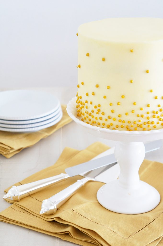 Bridal Shower Cake by Sugary & Buttery - Raspberry Angel Cake with Champagne Meringue Buttercream