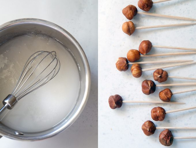Sugary & Buttery - How to make Caramel-Dipped Hazelnuts