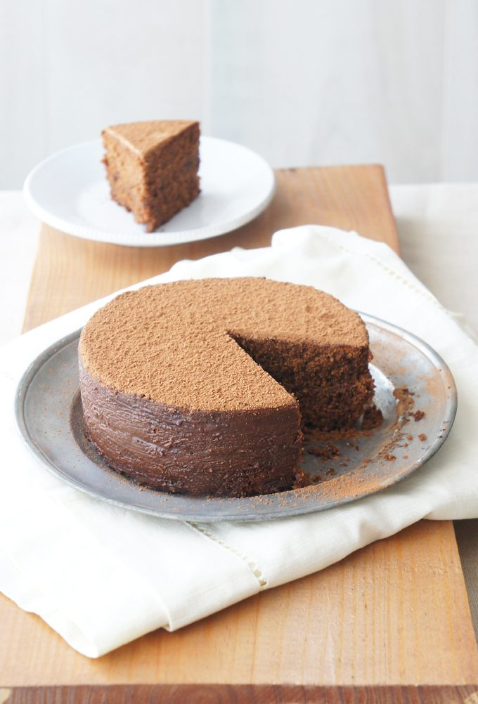 Sugary & Buttery - Chocolate Hazelnut Polenta Cake