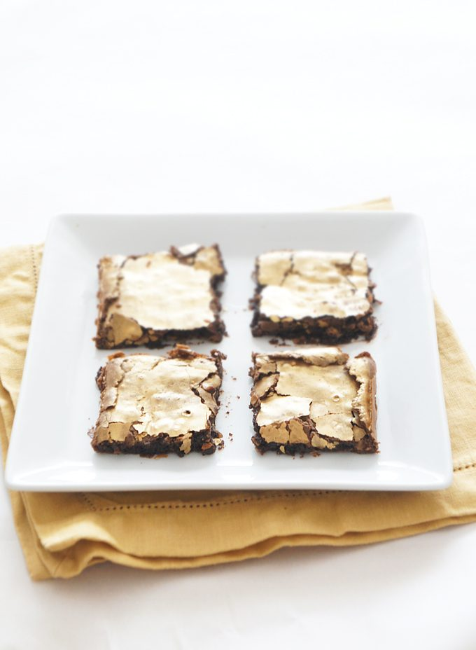 Sugary & Buttery - Golden Dark Chocolate Brownies