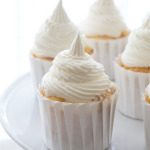 Peach Cupcakes with Vanilla Bourbon Buttercream