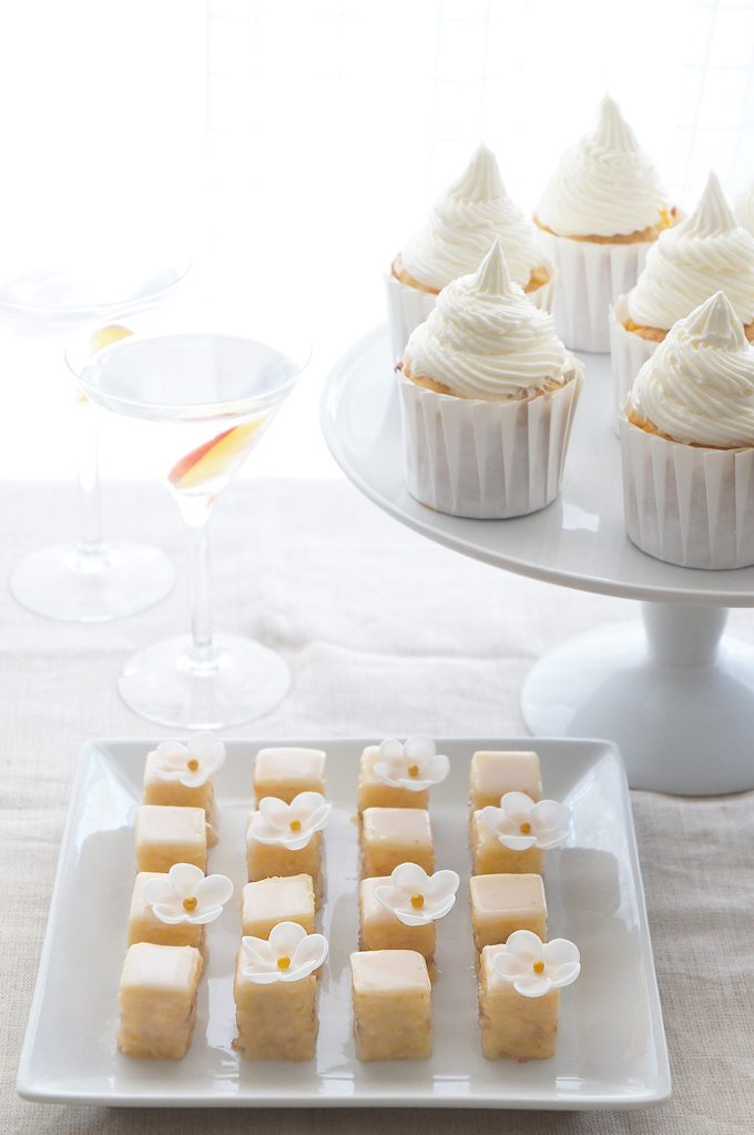roasted peach cupcake with roasted peach cupcake with roasted peach ...