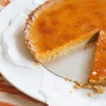 Sugary & Buttery - Pumpkin Brulée Tart with Gingerbread Crust