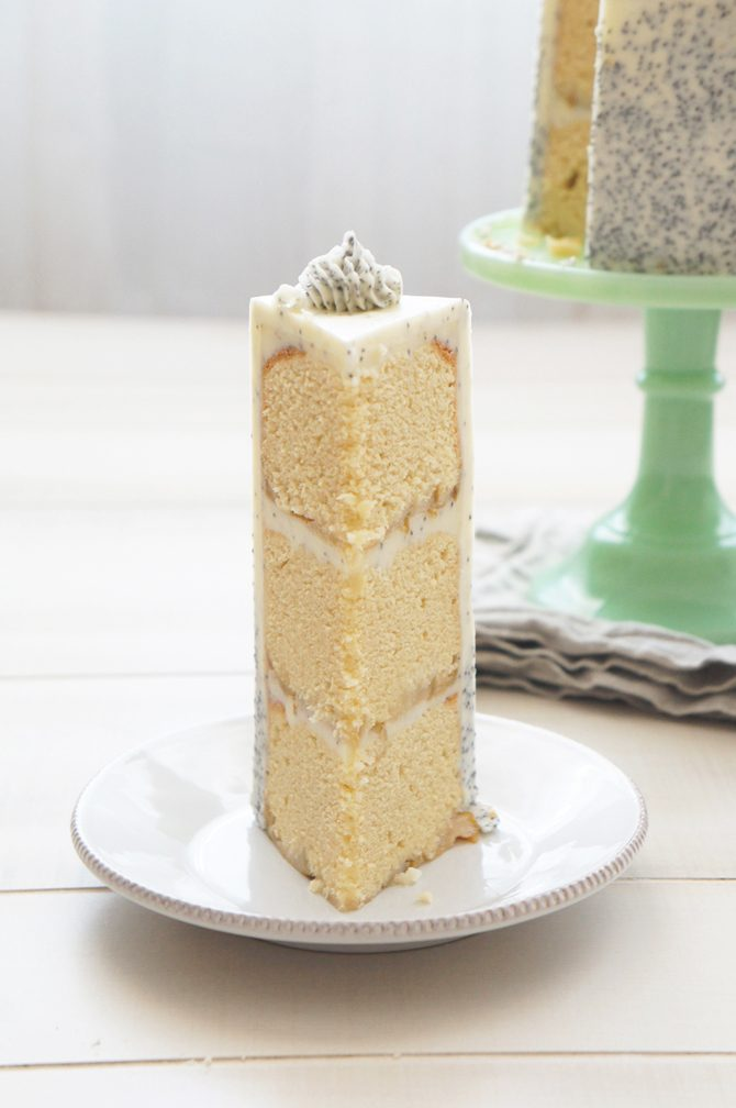 Sugary & Buttery - Pear and Poppy Seed Layer Cake