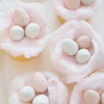 Vanilla Cotton Candy Easter Cupcakes