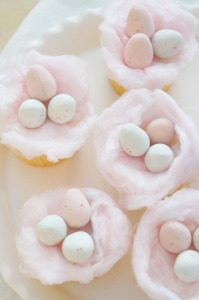 Sugary & Buttery - Vanilla Cotton Candy Easter Cupcakes