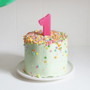 Banana Baby Birthday Smash Cake Sugary Amp Buttery