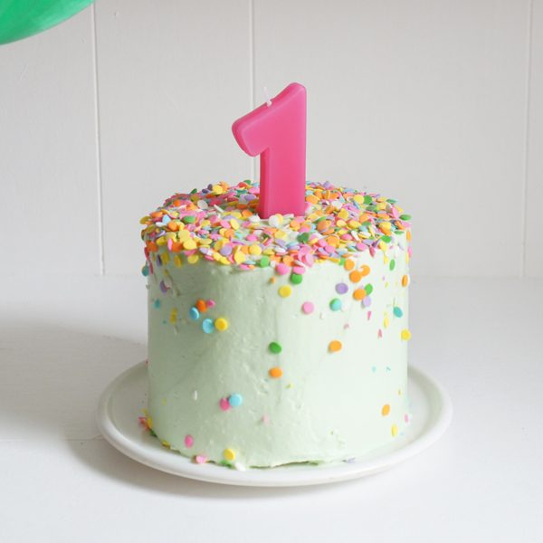 Banana Baby Birthday Smash Cake Sugary Buttery