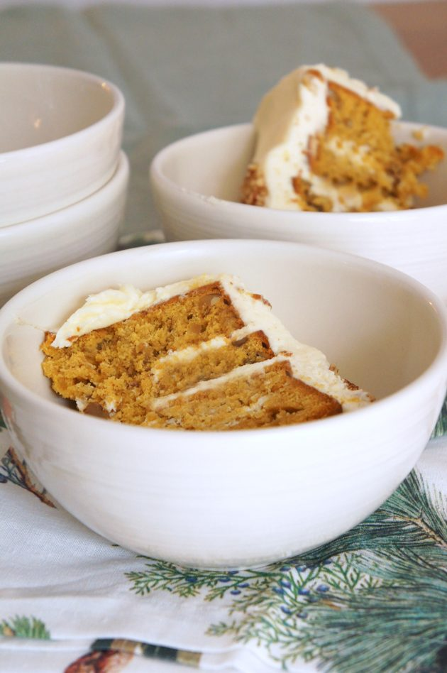 Sugary & Buttery - Pumpkin Hummingbird Cake with Maple Buttercream
