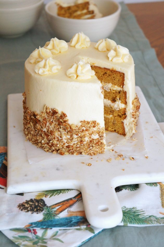 Pumpkin Hummingbird Cake With Maple Buttercream Sugary Buttery