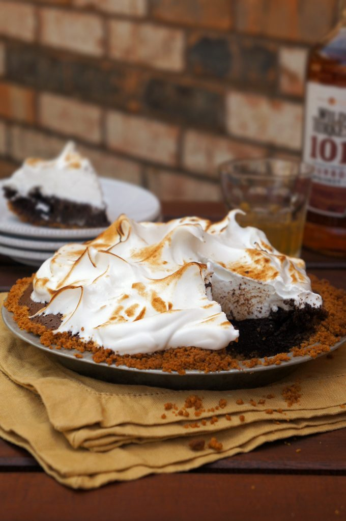 Sugary & Buttery - Bourbon Chocolate Pie with Meringue Topping