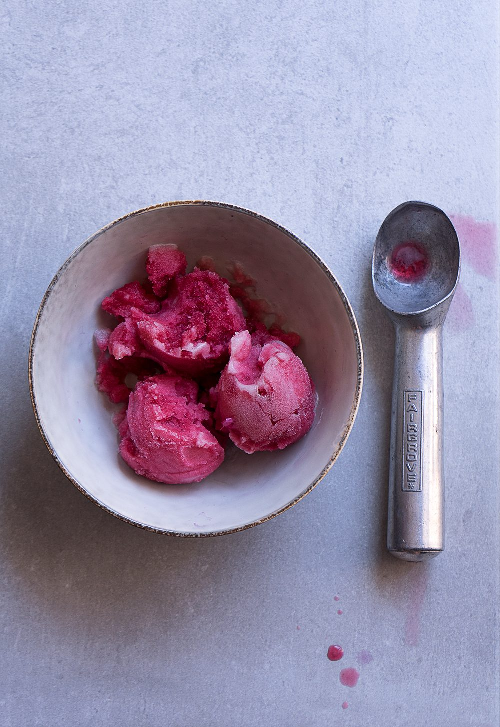 Hibiscus Honey Sorbet - Sugary & Buttery