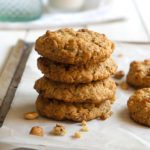 Soft Toasted Oatmeal Cookies with Toasted Hazelnuts