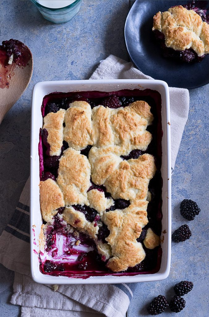 Sugary & Buttery - Old Fashioned Blackberry Cobbler