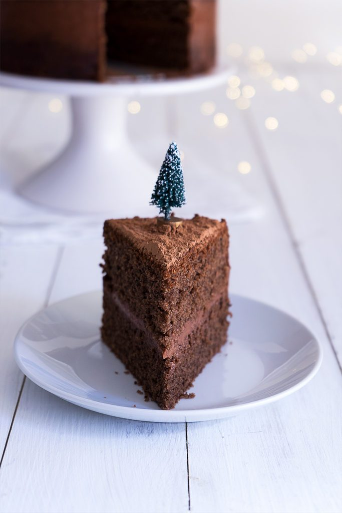 Sugary & Buttery - Naked Mulled Wine Chocolate Layer Cake