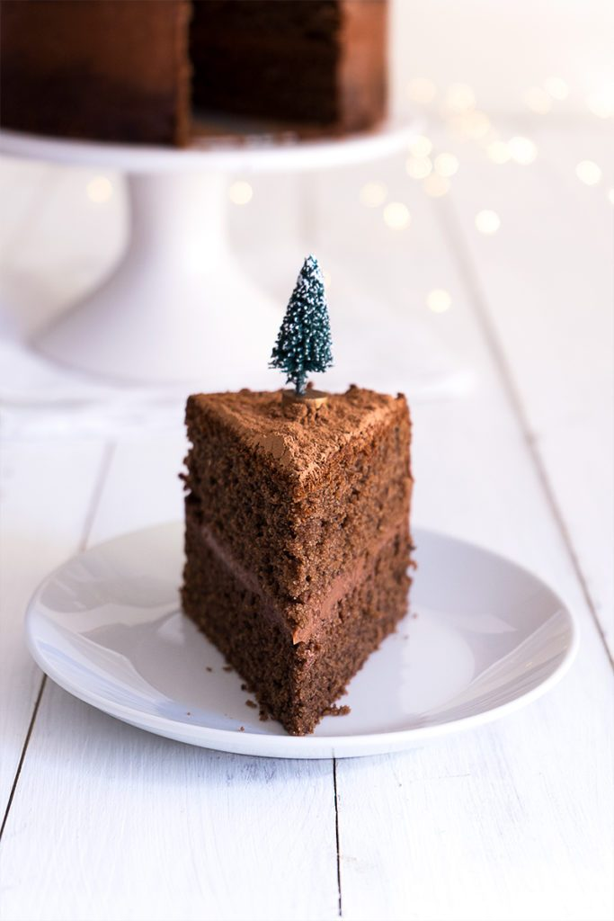 Naked Mulled Wine Chocolate Layer Cake - Sugary & Buttery