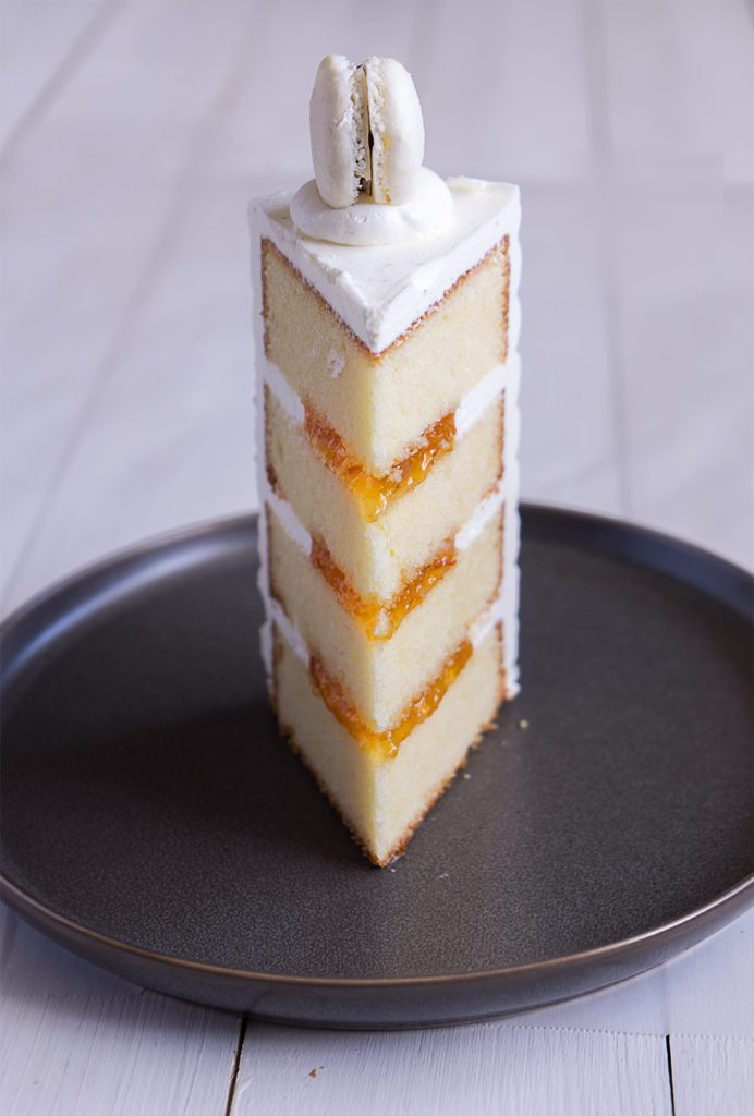 Sugary & Buttery - Eggnog Layer Cake with Apricot Filling