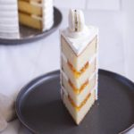 Eggnog Layer Cake with Apricot Filling