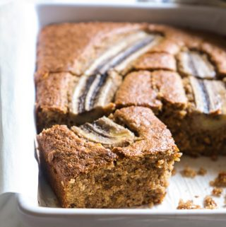 Banana Cake with Walnuts & Pecans