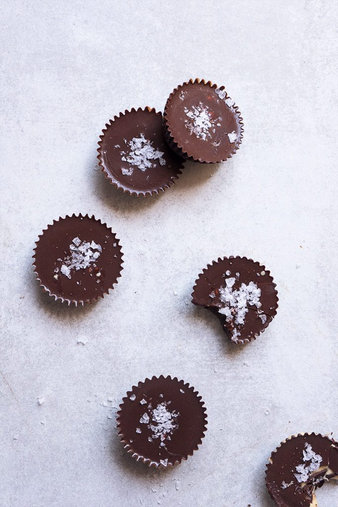 Sea Salted Chocolate Tahini Cups - Sugary & Buttery