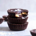 Sea Salted Chocolate Tahini Cups