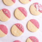 Ruby Chocolate Dipped Shortbread Cookies