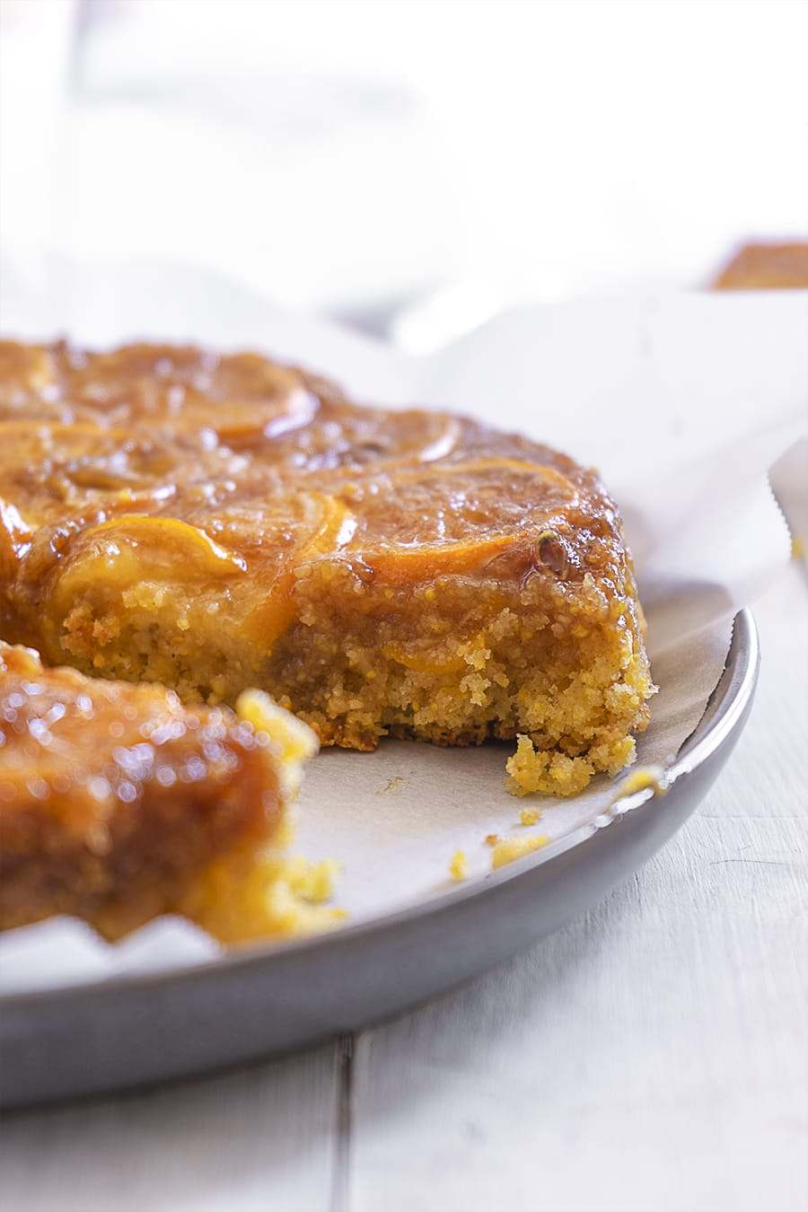 Meyer Lemon and Almond Upside Down Cake - Sugary & Buttery