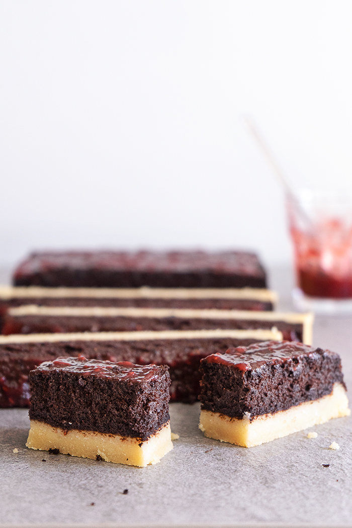 Sugary & Buttery - Raspberry Chocolate Fudge Bars