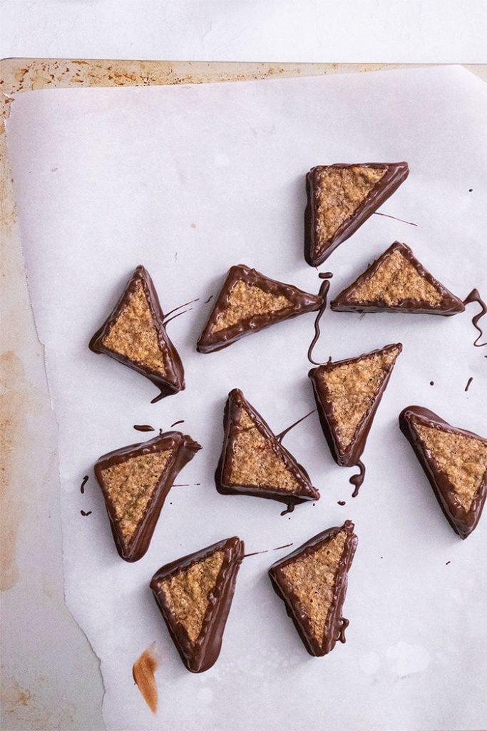 Hazelnut Triangles (German Nussecken) - Sugary & Buttery