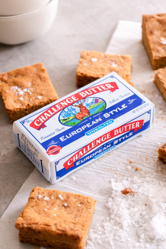 Brown Butter Blondies with Sea Salt - Sugary & Buttery