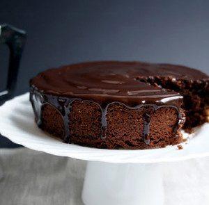 Avocado Chocolate Cake with Coffee-Chocolate Glaze