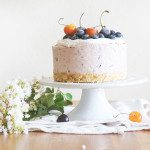Cherry Blueberry Summer Cheesecake