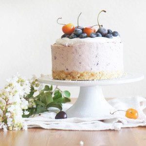 Cherry-Blueberry Summer Cheesecake