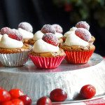 Wintery Brownie Cupcakes with Cranberries