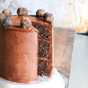 Sugary & Buttery - Triple Layer Chocolate-Marzipan Cake