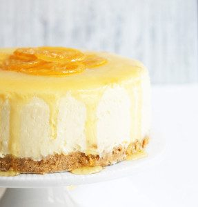 New York Style Coconut Cheesecake with Candied Lemons - Sugary & Buttery