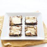Gold Dusted Dark Chocolate Brownies