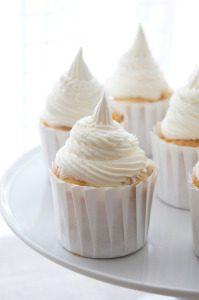 Sugary & Buttery - Peach Cupcake Recipe with Vanilla Bourbon Buttercream