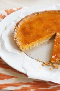Sugary & Buttery - Pumpkin Brulée Tart with Gingerbread Crust