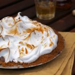 Bourbon Chocolate Pie with Meringue Topping