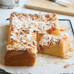 Sugary & Buttery - Rhubarb Almond Summer Cake (Gluten-free)