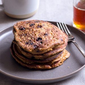 Sugary & Buttery - Maca Pancakes with Wild Blueberries