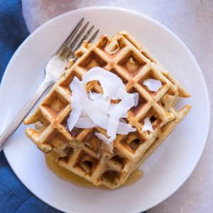 Sugary & Butter - Coconut and Honey Oat Waffles