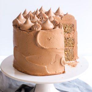 Chocolate Hazelnut Layer Cake - Sugary & Buttery