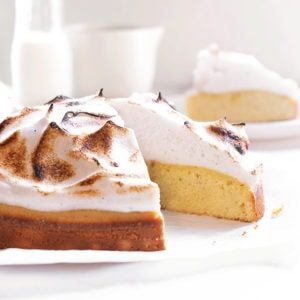 Toasted Vanilla Meringue Cake - Sugary & Buttery